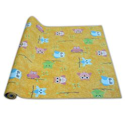Passadeira carpete infantil OWLS amarelo CORUJAS corujas