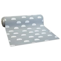 Anti-slip Fitted carpet for kids CLOUDS grey