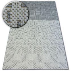 Fonott sizal flat szőnyeg 48722/637 Kétszínű krém szürke