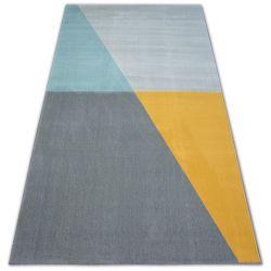 Carpet SCANDI 18487/572 - Trapeze grey gold turquoise