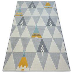 Carpet PASTEL 18415/052 - Indian Aztec cream grey turquoise gold