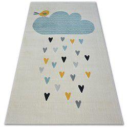 Carpet PASTEL 18409/062 - Cloud Hearts Bird cream turquoise grey