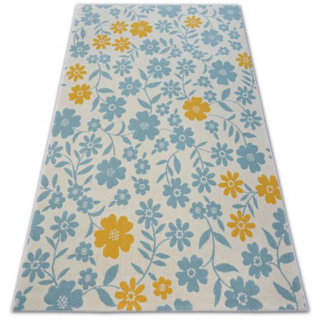 Carpet PASTEL 18414/062 - Flowers cream turquoise gold