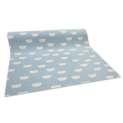 Anti-slip Fitted carpet for kids CLOUDS blue