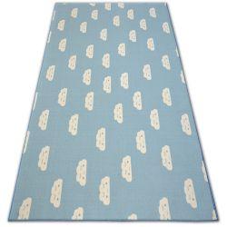TAPIJT - Vloerbekleding anti slip voor kinderen CLOUDS blauw