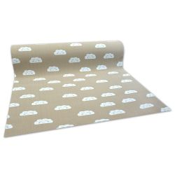 Antypoślizgowa wykładzina dywanowa dla dzieci CLOUDS beżowy