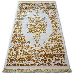 Akril manyas szőnyeg 192AA Elefántcsont/Arany rojt