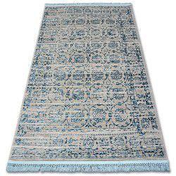 Tapis ACRYLIQUE MANYAS 193AA Gris/Bleu franges