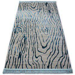 Akril manyas szőnyeg 195AA Szürke/Kék rojt