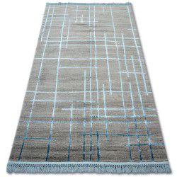 Akril manyas szőnyeg 191AA Szürke/Kék rojt