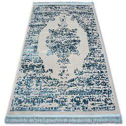 Tapis ACRYLIQUE MANYAS 192AA Gris/Bleu franges