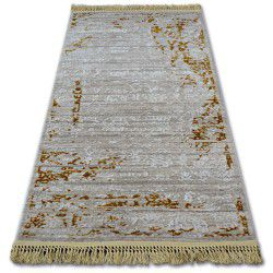 Carpet ACRYLIC MANYAS 193AA Brown/Cream fringe