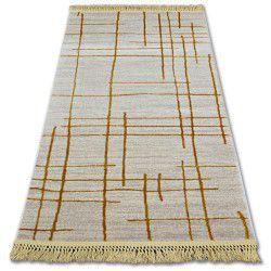 Carpet ACRYLIC MANYAS 191AA Ivory/Gold fringe