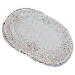 Carpet ACRYLIC Oval MIRADA 0082 Cream / Pink ( Mavi ) Fringe