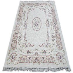 Carpet ACRYLIC MIRADA 5405 Purple ( Murdum ) Fringe