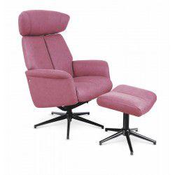 Křeslo recliner VIVALDI polohovací-relax, tmavě růžová