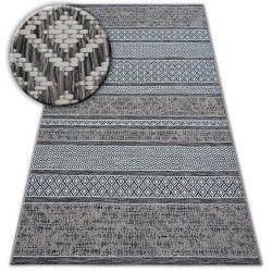 Fonott sizal szőnyeg LOFT 21118 boho elefántcsont/ezüst/szürke