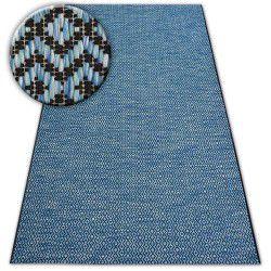 Sisal tapijt SISAL LOFT 21144 RUIT ZIGZAG blauw/zwart/zilverkleuring