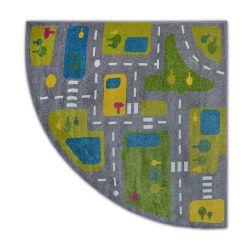Carpet PAINT quarter circle G4777 - Streets grey/cream