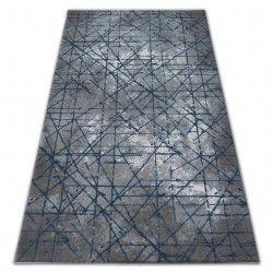 Tapis ACRYLIQUE VALENCIA 3949 INDUSTRIAL gris / bleu