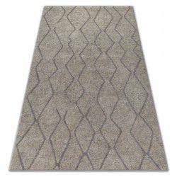 Carpet SOFT 8050 ZIGZAG BOHO cream / light brown