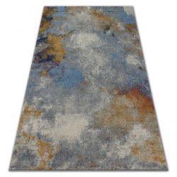 Carpet SOFT 6315 FOG light grey / blue / mustard