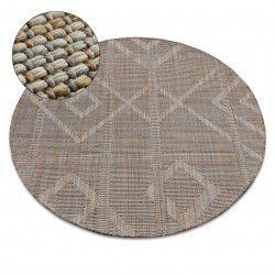Kulatý koberec NATURE G2929 béžový SISAL BOHO