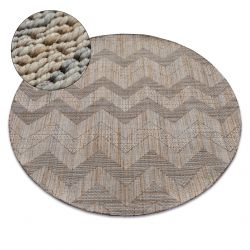 Kulatý koberec NATURE SL 100 béžový SISAL BOHO