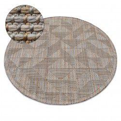 Carpet NATURE circle SL160 beige SIZAL BOHO