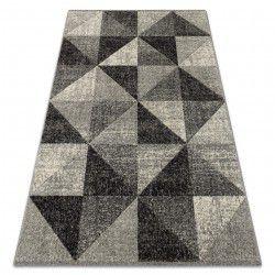 Tæppe FEEL 5672/16811 TRIANGLER grå / antracit / fløde