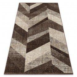 Carpet FEEL 5673/15044 HERRINGBONE d.brown / beige / cream / gray