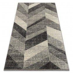 Matta FEEL 5673/16811 HERRINGBONE grå / antracit / grädde