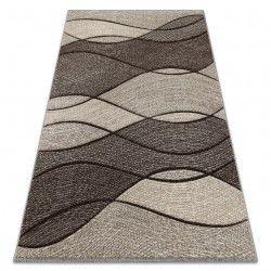 Teppich FEEL 5675/15011 WELLEN braun / beige / creme