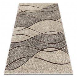 Carpet FEEL 5675/15033 WAVES brown / beige / gray