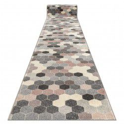 Пътеки HEOS 78537 сиво/розово/сметана шестоъгълник