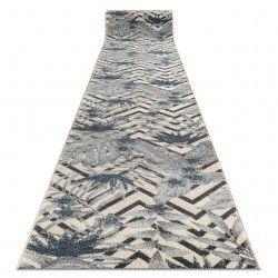 Alfombra de pasillo HEOS 78540 Hojas Selva crema/azul