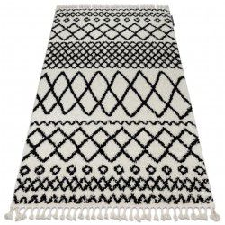 Tapete BERBER SAFI N9040 branco/preto Franjas berbere marroquino shaggy