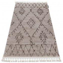Tapete BERBER FEZ G0535 bege/castanho Franjas berbere marroquino shaggy