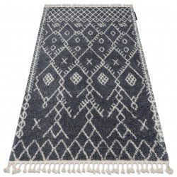 Tapete BERBER TANGER B5940 cinzento/branco Franjas berbere marroquino shaggy