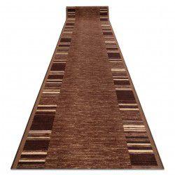 Alfombra de pasillo con refuerzo de goma ADAGIO marrón