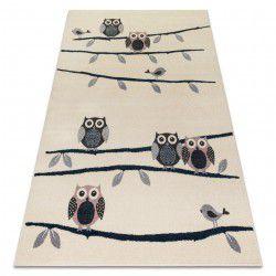 Carpet HEOS 78465 cream / blue / pink / grey OWLS