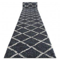 Доріжка килимова BERBER CROSS B5950 сірий волохатий