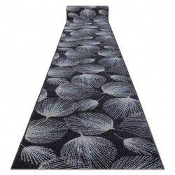 Alfombra de pasillo HEOS 78545 Plumas antracita/azul