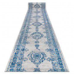 Chodnik Vintage 22206063 Rozeta niebieski / szary