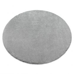 Teppich rund STAR silbern
