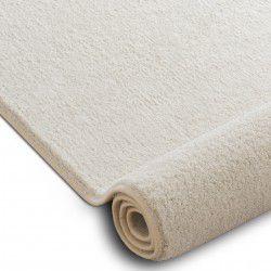 Fitted carpet VELVET MICRO cream 031 plain, flat, one colour