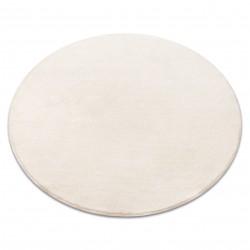 Carpet, round VELVET MICRO cream 031 plain, flat, one colour