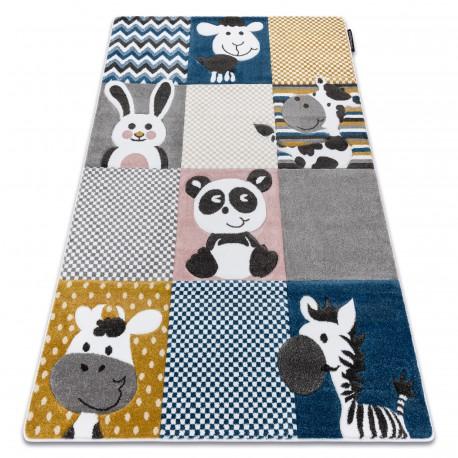 Carpet PETIT ZOO ANIMALS cream / grey