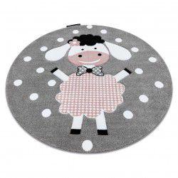 Kulatý koberec PETIT DOLLY Ovečka, šedý