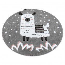 Kulatý koberec PETIT Lama, šedý